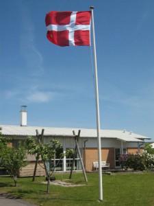 Flag ved fælleshus